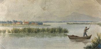 France Original Art - On the River, James Heywood, 1884