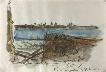 France Original Art - Loire River, c.1960