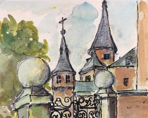 France Original Art - Chateau Gate, 2004