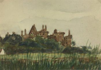 France Original Art - Hidden Castle, c.1920