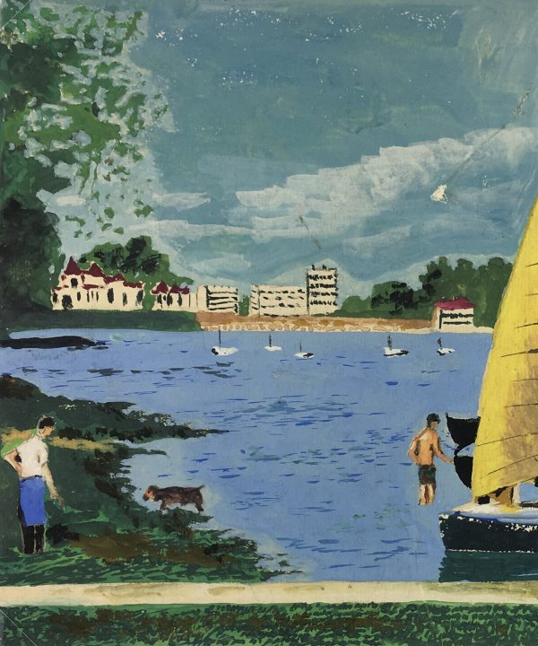 France Original Art - Sailing in Brittany, c.1960