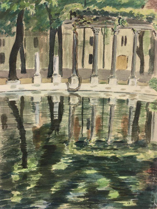 France Original Art - Reflection, M. Joyet, 1947