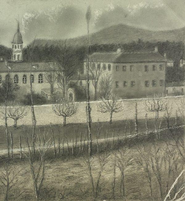 France Original Art - Hospital, De Fieuzal French, 1876