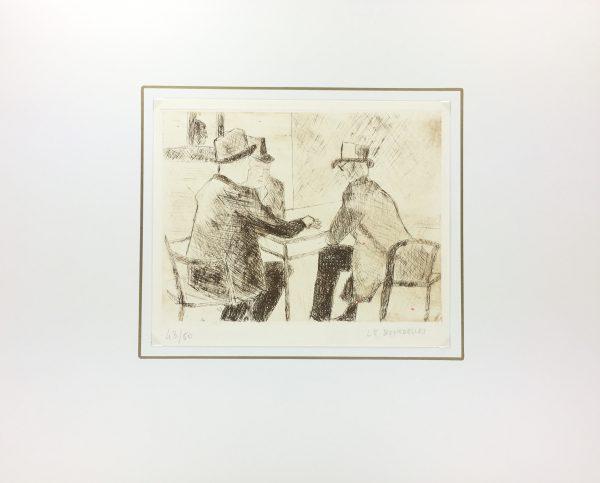 France Original Art - Card Game, H. Le Bourdellès, c.1950