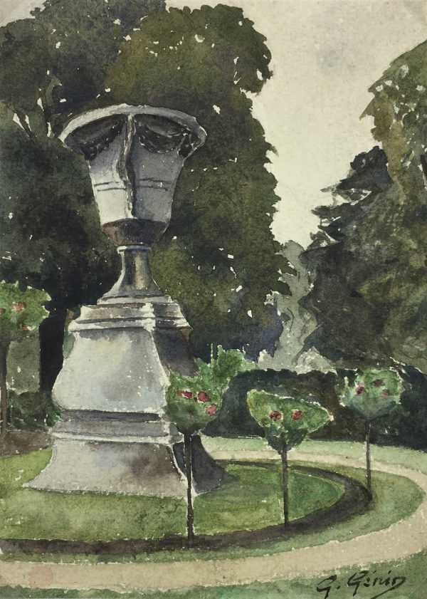 France Original Art - French Garden, G. Gèrin, c.1930