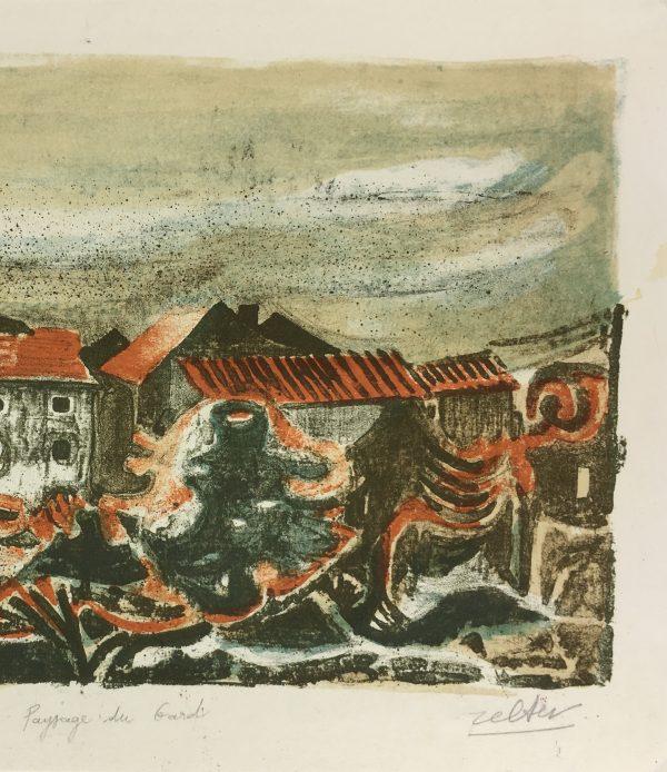 France Original Art - Le Gard, Zeller, c.1960