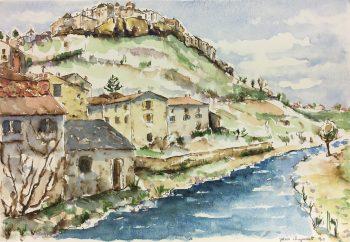France Original Art - Landscape, Jean Chapront, 1999