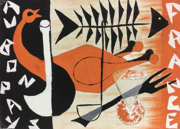 France Original Art - French Cuisine, Au Bon Pays, c.1950