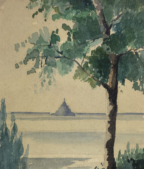 France Original Art - Mont Saint Michel, G. Chernan, c.1920