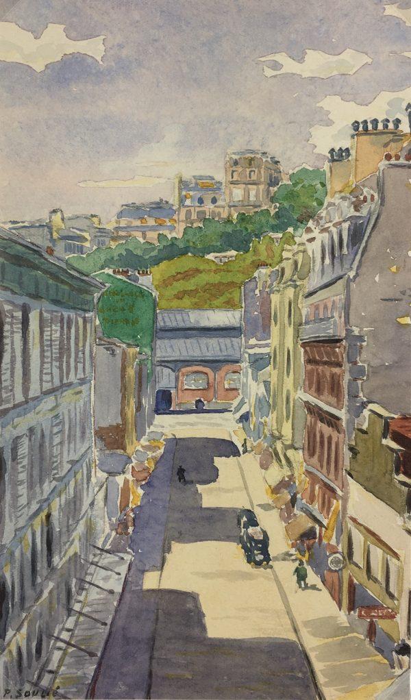 France Original Art - La Ville, P. Soulié, c.1950