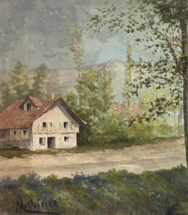 France Original Art - French Countryside, M. Olivier, c.1920