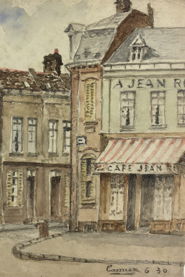 France Original Art - French Town, Camier, 1930