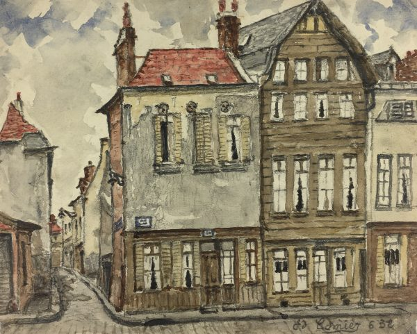 France Original Art - French Town, Camier, 1932
