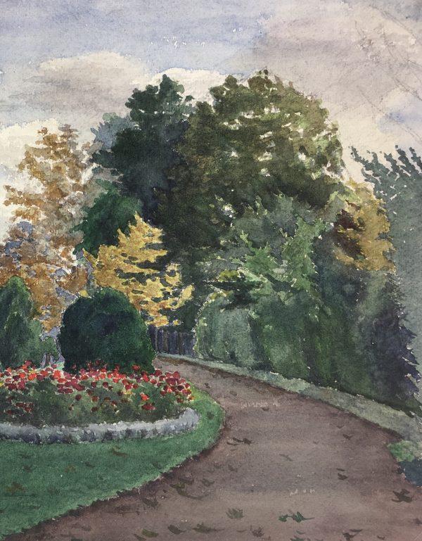France Original Art - Chateau Gardens, M. Olivier, c.1930