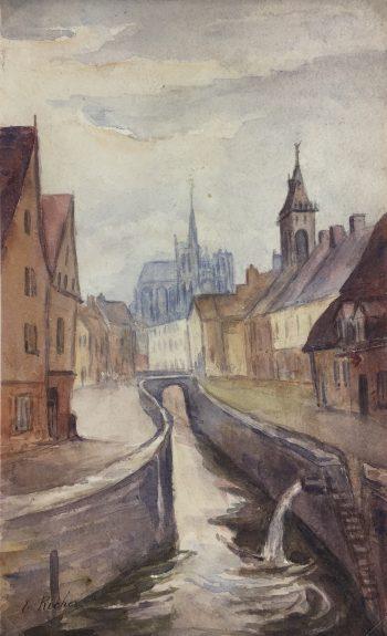 France Original Art - France Amiens, E. Richer, c.1890