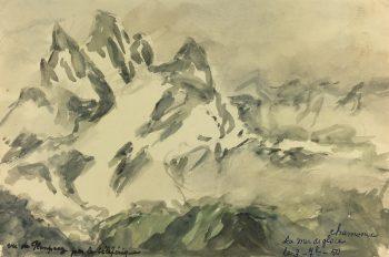 France Original Art - Chamonix, France, M. Kessler, 1950