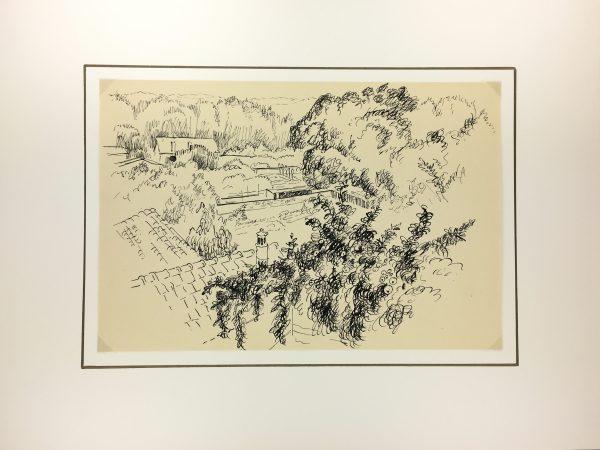 France Original Art - Touraine, André Lafond, 1955