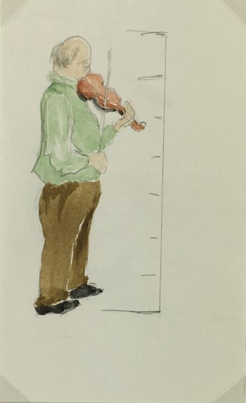 Great Britain/UK Original Art - English Watercolor - Violin, 2000s