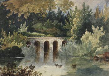 Great Britain/UK Original Art - The Old Bridge, (England), c.1890