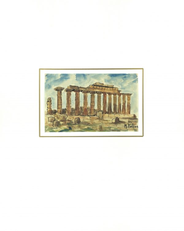 Italy Original Art - Roman Ruins, Maurice Falliés, c.1950