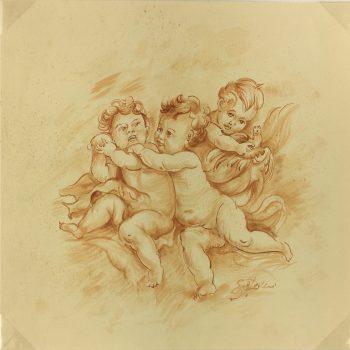 Italy Original Art - Cherubs, Silvano Chellini, 2012