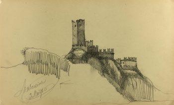 Italy Original Art - Malcesine, Italy, E. Wollenweber, 1890