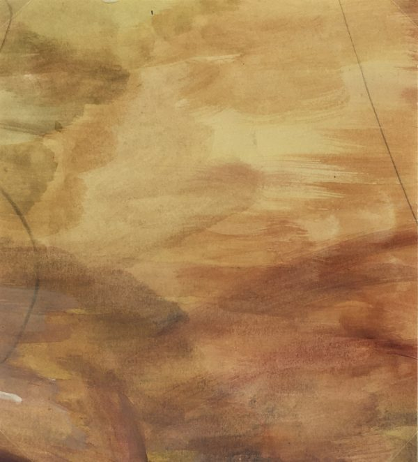 Abstract Modern Original Art - Mauve Gold Abstract, French, 2000