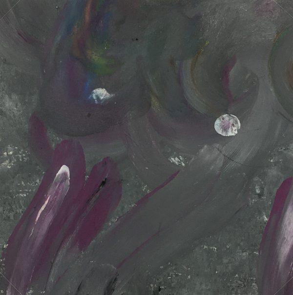Abstract Modern Original Art - Magenta Orb, French, 2000s