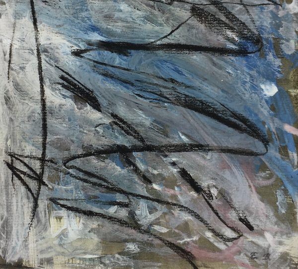 Abstract Modern Original Art - Bleu Paysage, Eric Brault, 1990