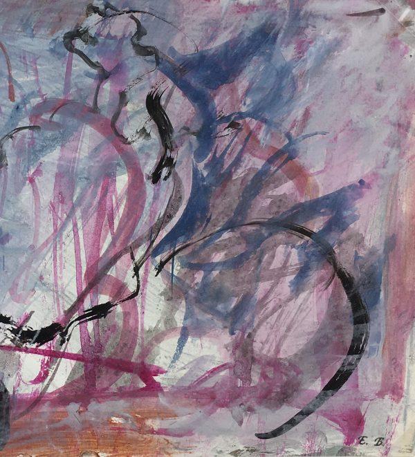 Abstract Modern Original Art - Bleu Paysage, Eric Brault, 1990