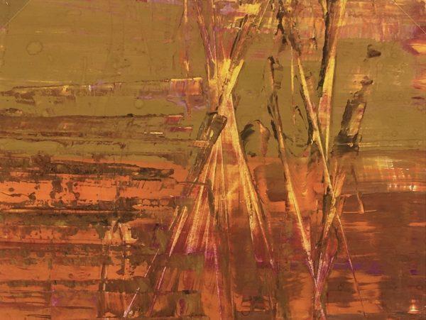 Abstract Modern Original Art - Earthen Abstract, French,