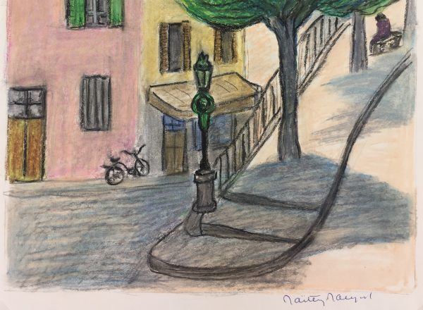 Provence, France Original Art - Provence Town, Signed, c.1970