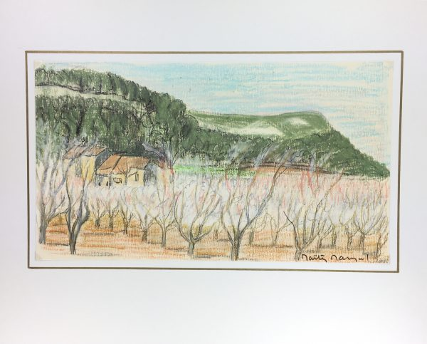 Provence, France Original Art - French Farmland, Signed, c.1970