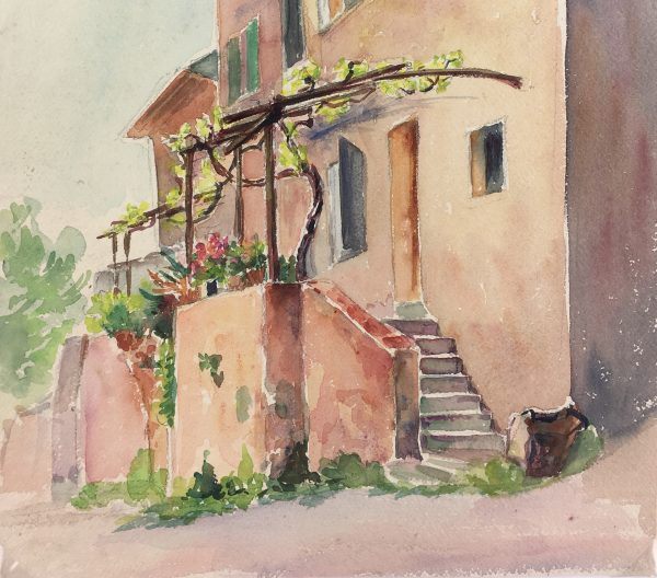 Provence, France Original Art - Watercolor - Provence, c.1950