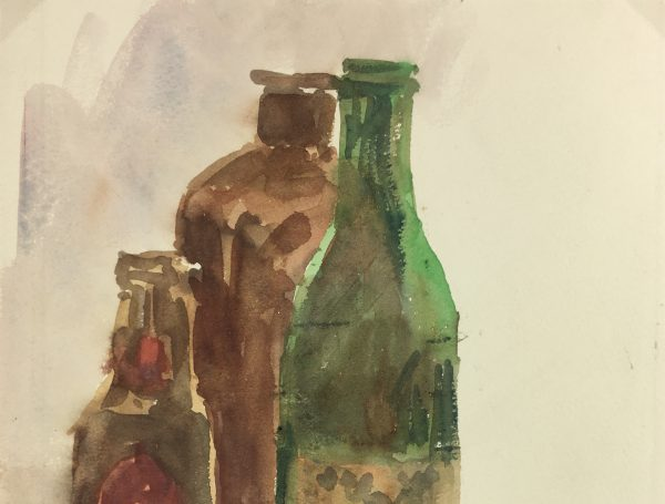 Still Life Original Art - Watercolor - Still Life, 1983