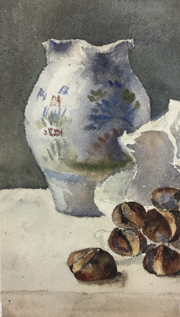 Still Life Original Art - Figs, French,
