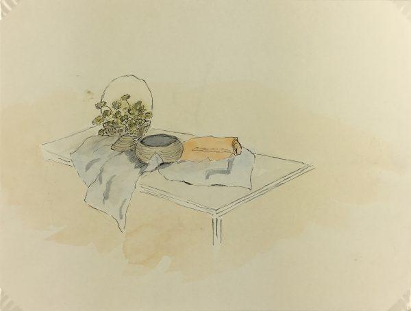 Still Life Original Art - Watercolor - Table Still Life, c.1990