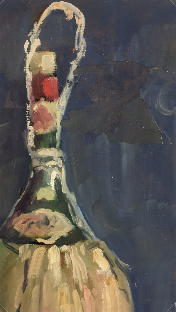 Still Life Original Art - Wine Bottle, Bailly, c.1960