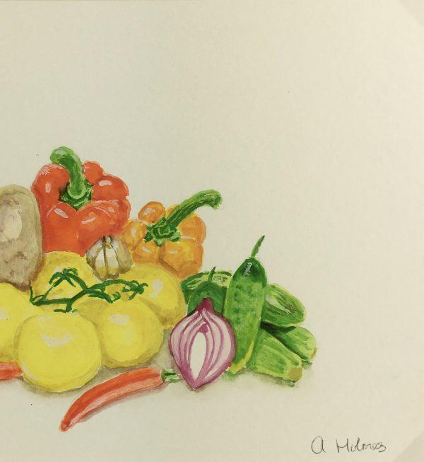 Still Life Original Art - Vegetables, Abigail Holmes-Sleney, c.2000