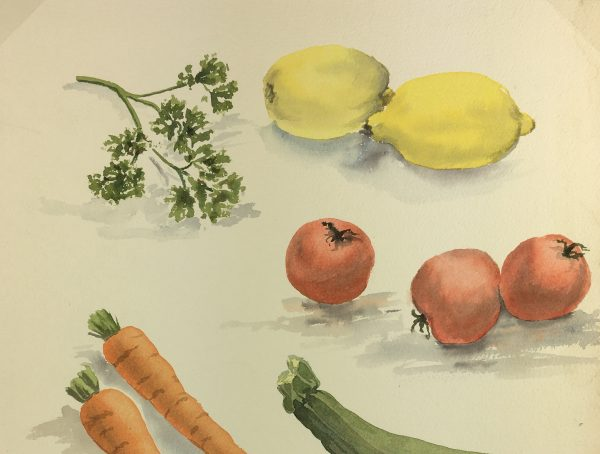 Still Life Original Art - Vegetables, English, c.1980
