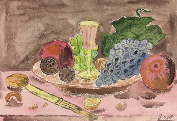 Still Life Original Art - Still Life, J. Oget, c.1960