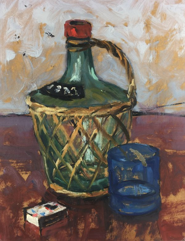 Still Life Original Art - Oil - Still Life, R. Bailly, c.1960