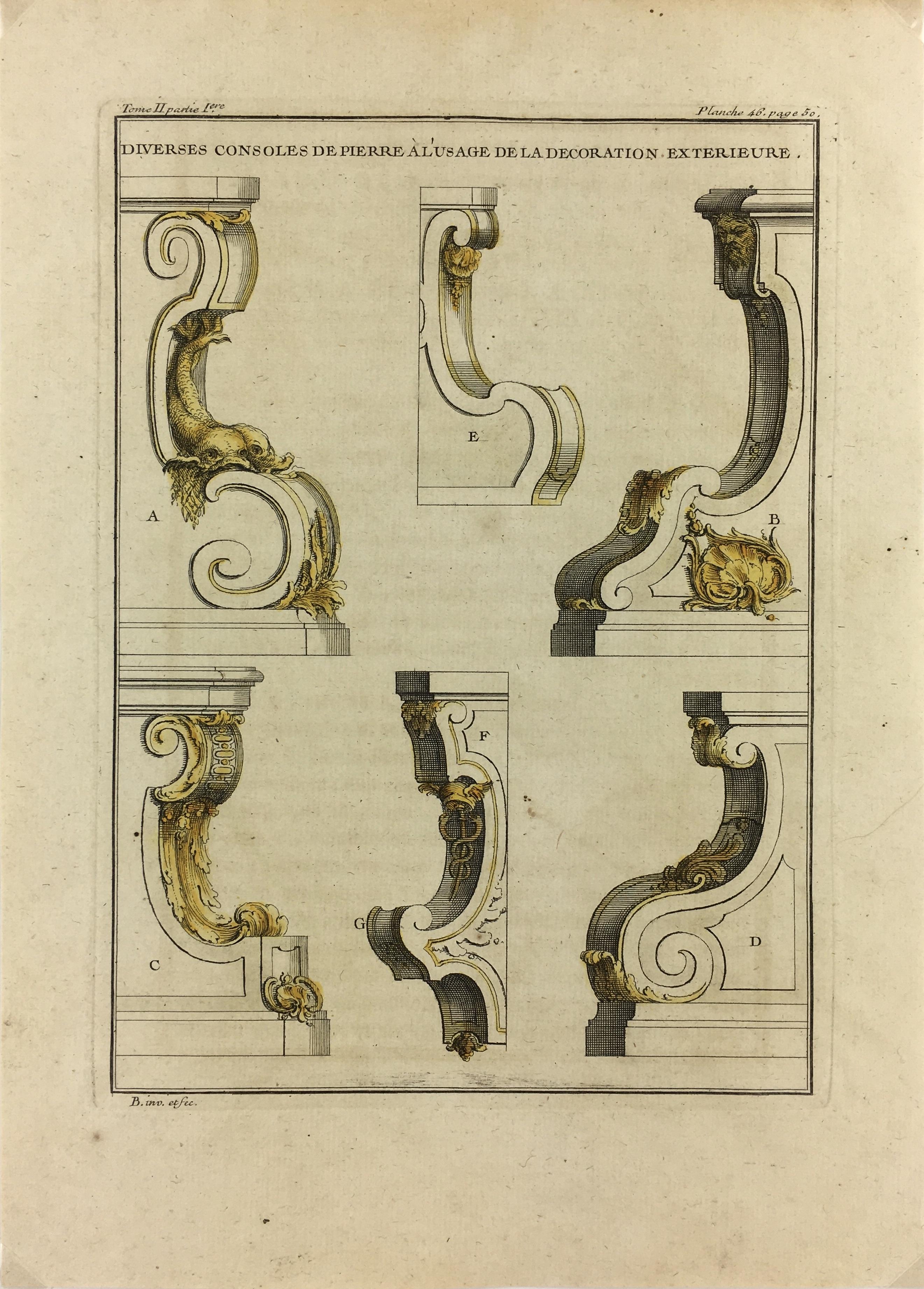 Architecture Print - Architecture, Copper Eng, c.1750