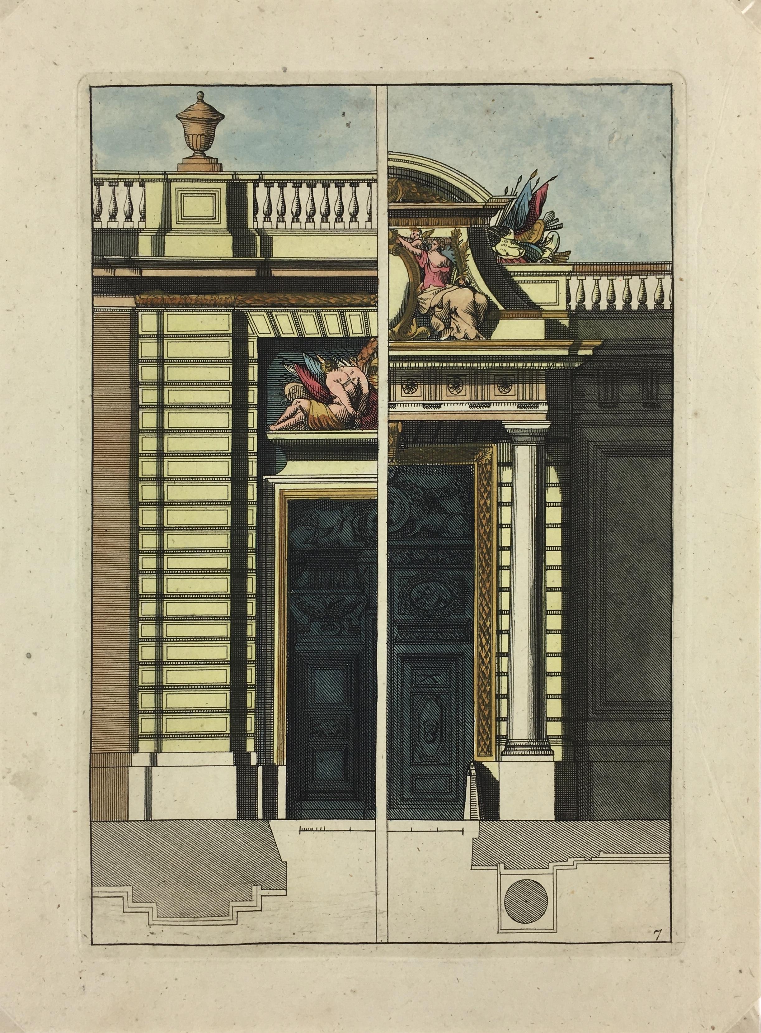 Architecture Print - Architecture, Copper Eng, c.1720