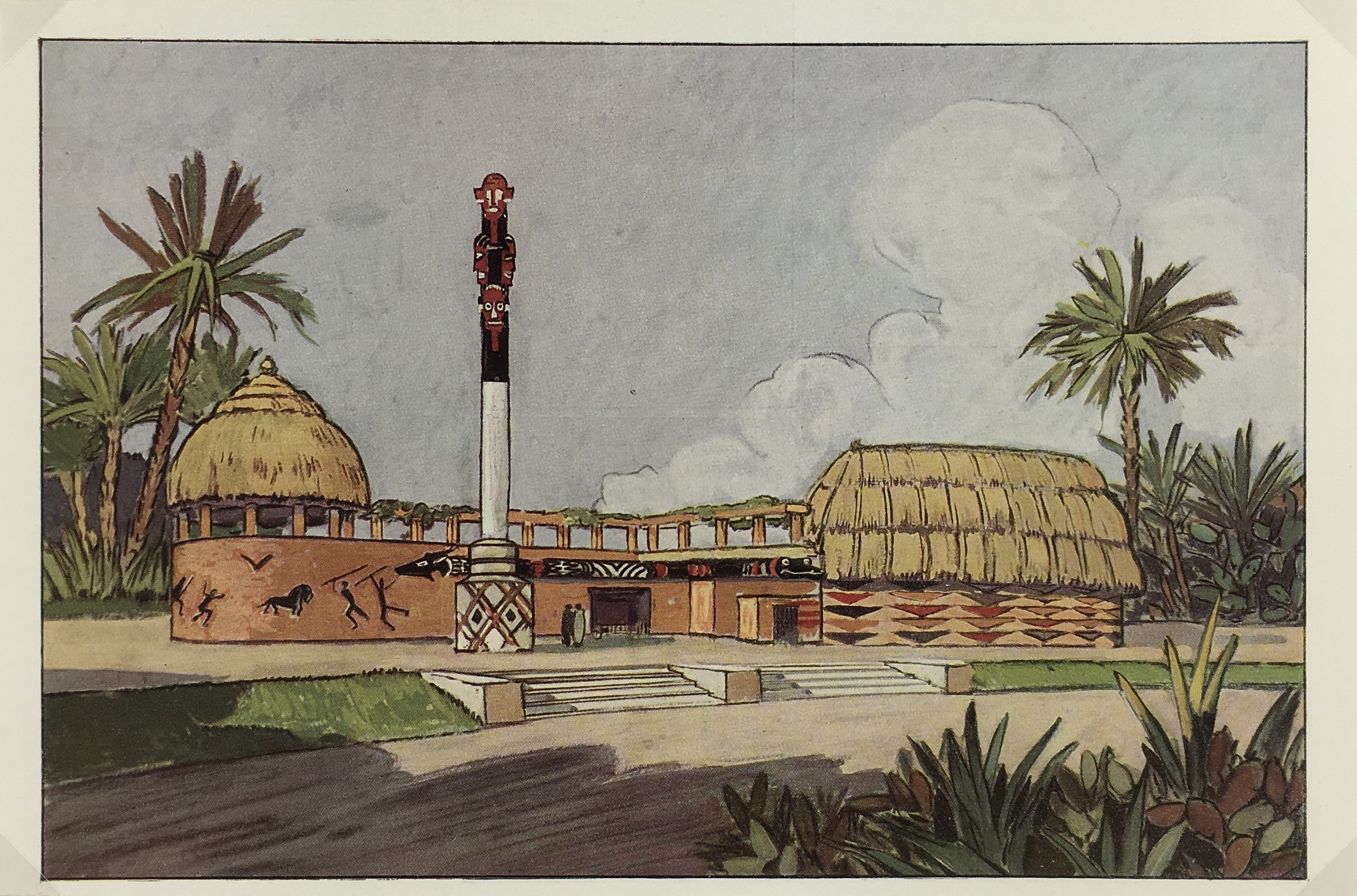 Architecture Print - Africa, L'Illustration, c.1930