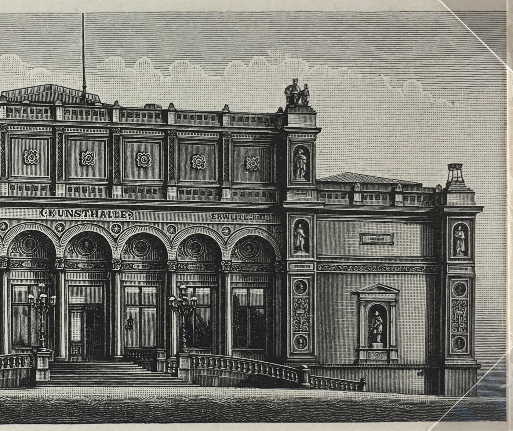 1894 Italian Architecture Original Antique Engraving to Frame