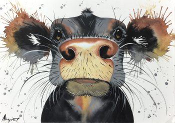 Animals Cattle Original Art - Cow, Angort, 2015