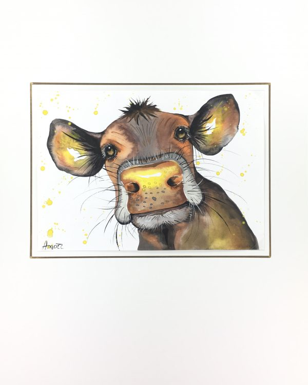 Animals Cattle Original Art - Cow , Angort, 2015