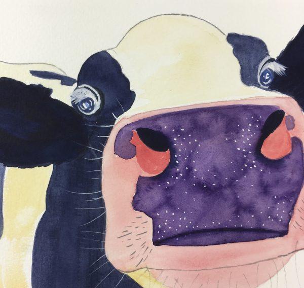 Animals Cattle Original Art - Cow , Sani, 2015