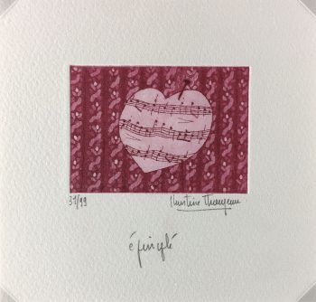 Engravings & Etchings Original Art - Epinglé, Christine Thouzeau, c.1980